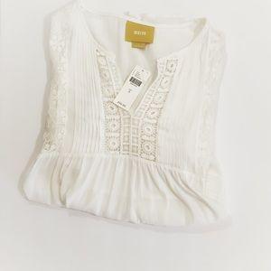 Anthropologie Maeve Boho Crochet Popover Top